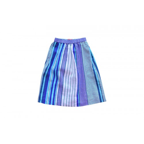 MULTI STRIPE SKIRT(BLUE) - 2만원 균일가