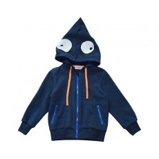 MONSTER HOOD ZIP-UP (NAVY)