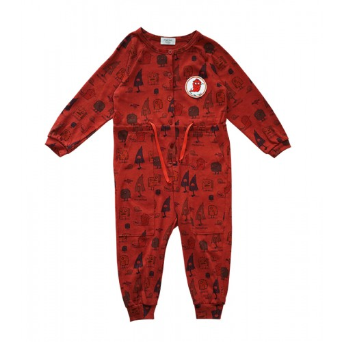 MONSTER JUMPSUIT (RED) - 80% 할인