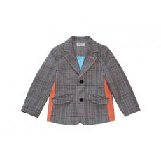 ORANGE CHECK JACKET (ORANGE)