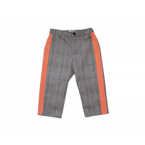 ORANGE CHECK PANTS (ORANGE)