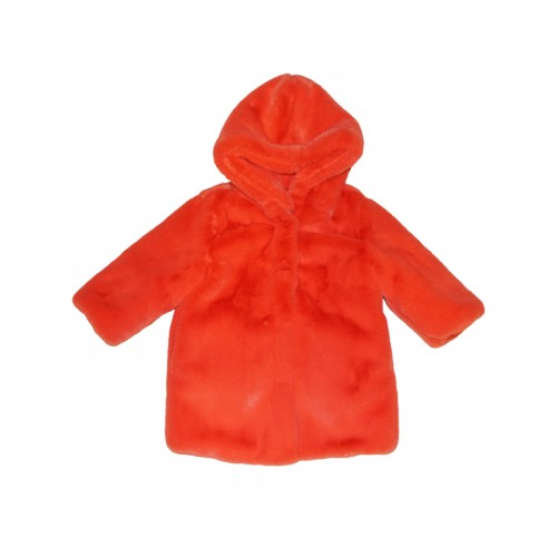 ECO FUR COAT (ORANGE) - 60% 할인