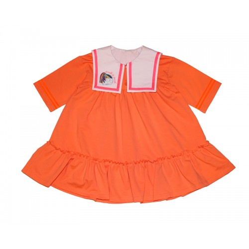 FACE SAILOR DRESS (ORANGE)