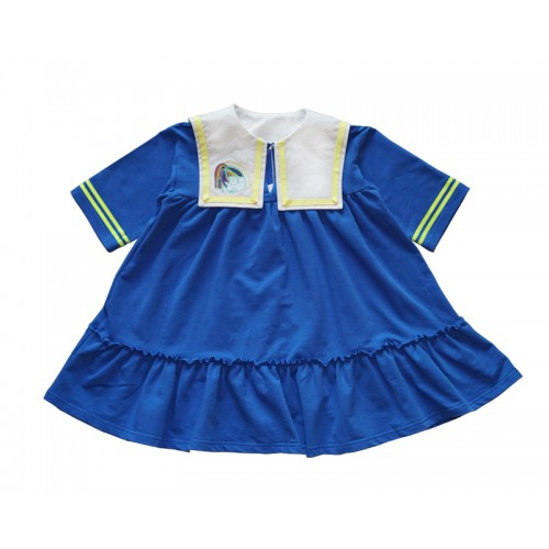 FACE SAILOR DRESS (BLUE)