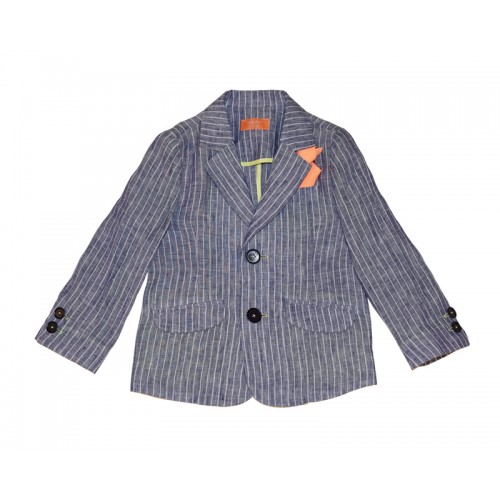 STRIPE LINEN SUIT (BLUE)
