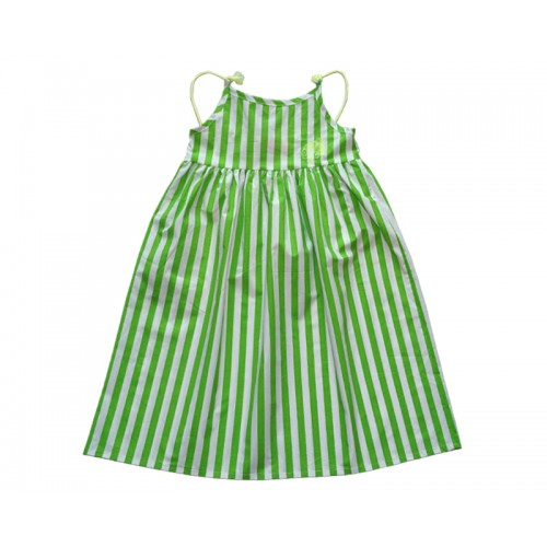 TASSEL STRIPE DRESS (GREEN)