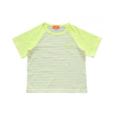 SUMMER LOGO STRIPE T-SHIRT (NEON YELLOW)