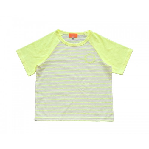 SUMMER LOGO STRIPE T-SHIRT (NEON YELLOW) - 50% 할인