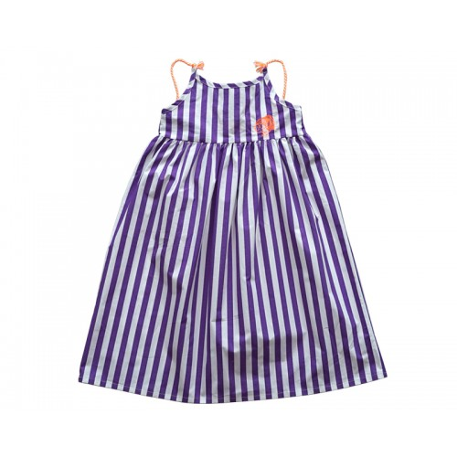 TASSEL STRIPE DRESS (PURPLE)