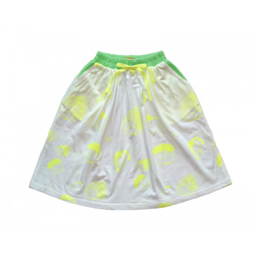 SUMMER FACE SKIRT (WHITE) - 50% 할인