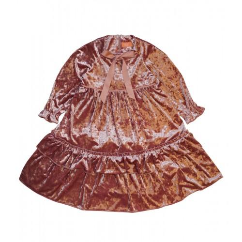 VELVET PRINCESS DRESS (PINK)