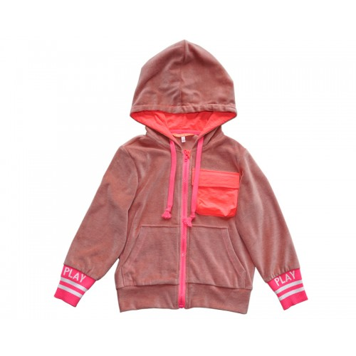 PLAY HOODY ZIP-UP (PINK) SOLD-OUT
