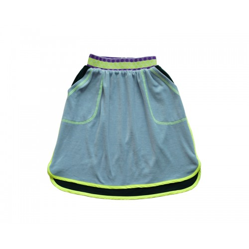 PLAY VELVET SKIRT (BLUE)- 50% 할인