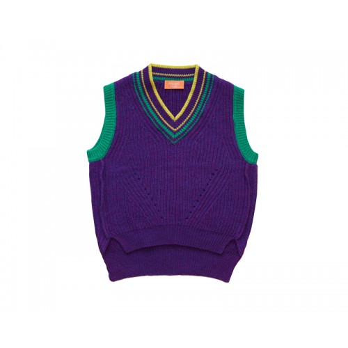 VINTAGE KNIT VEST (PURPLE)