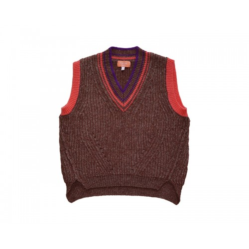 VINTAGE KNIT VEST (BROWN) - 50% 할인