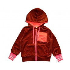 PLAY HOODY ZIP-UP (BROWN)