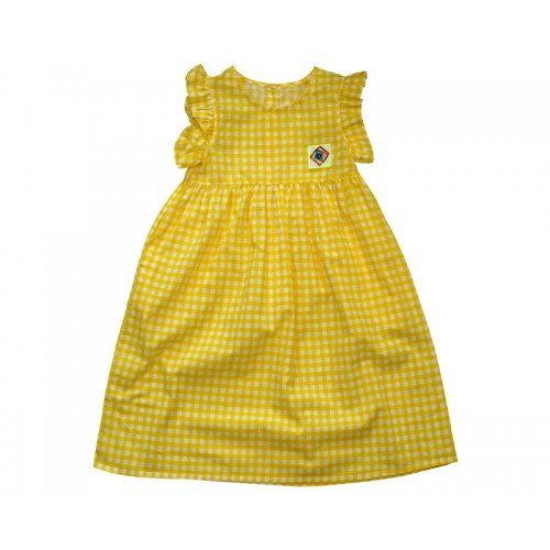 GINGHAM CHECK DRESS (YELLOW) REORER