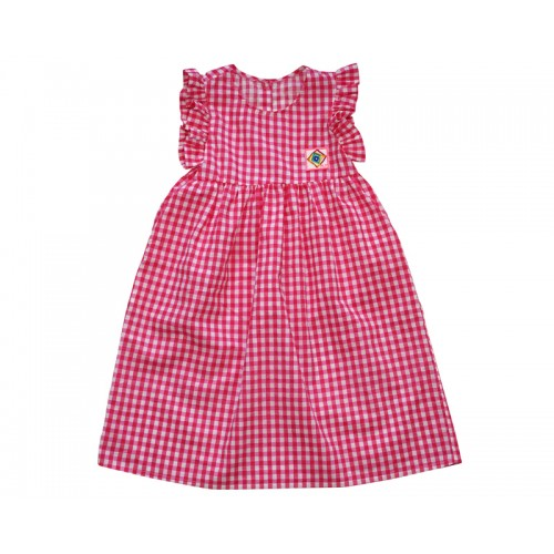 GINGHAM CHECK DRESS (PINK) - 40% 할인