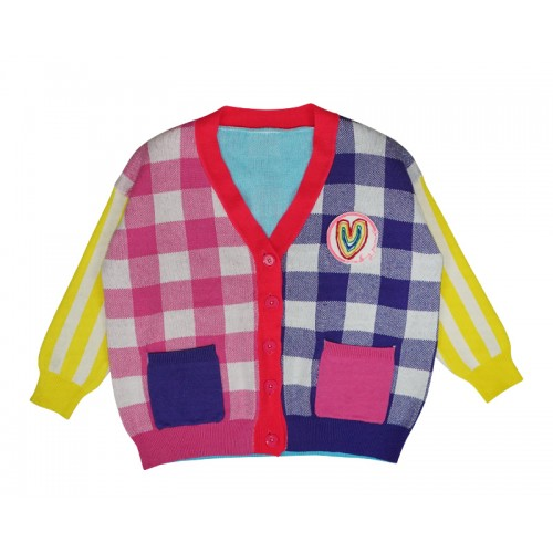 MY RAINBOW CARDIGAN (PINK)