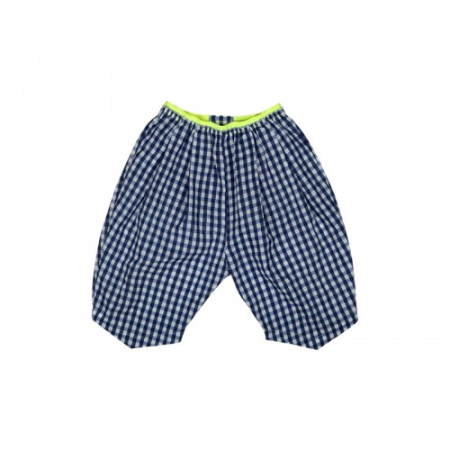 GINGHAM CHECK SHORTS (NAVY)