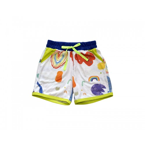MY RAINBOW SHORTS (WHITE)