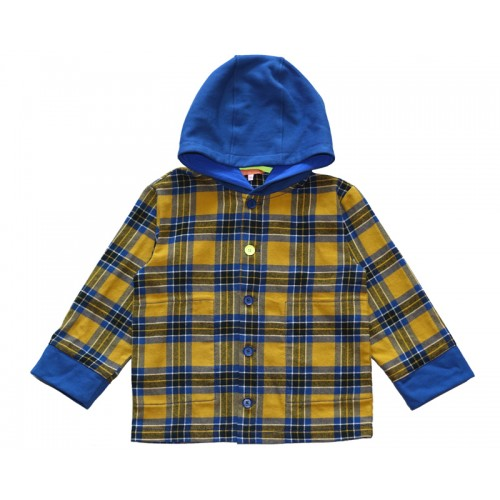 HOODY CHECK SHIRT (BLUE) - 20% 할인