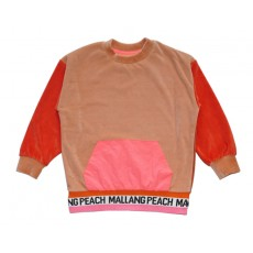 VELVET COLOUR BLOCK T-SHIRT (PINK) - 20% 할인