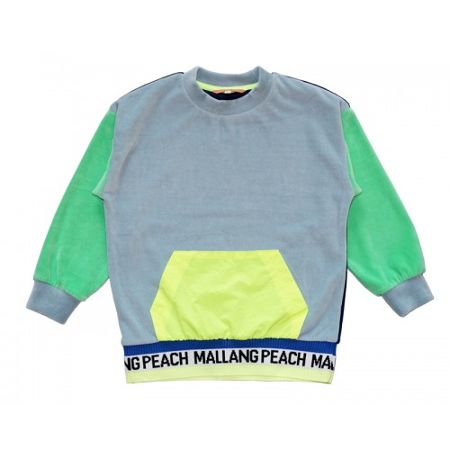 VELVET COLOUR BLOCK T-SHIRT (BLUE) - 20% 할인