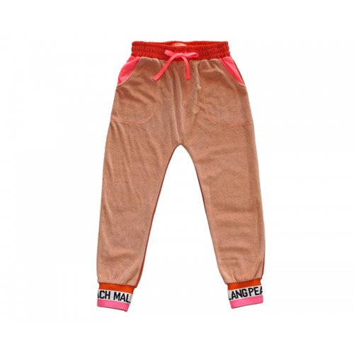 VELVET COLOUR BLOCK PANTS (PINK) - 20% 할인