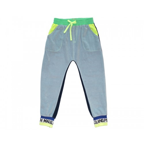 VELVET COLOUR BLOCK PANTS (BLUE) - 20% 할인