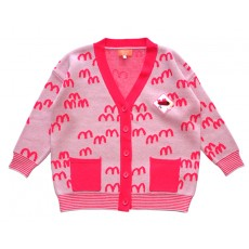 MM KNIT CARDIGAN (PINK) - 30% 할인