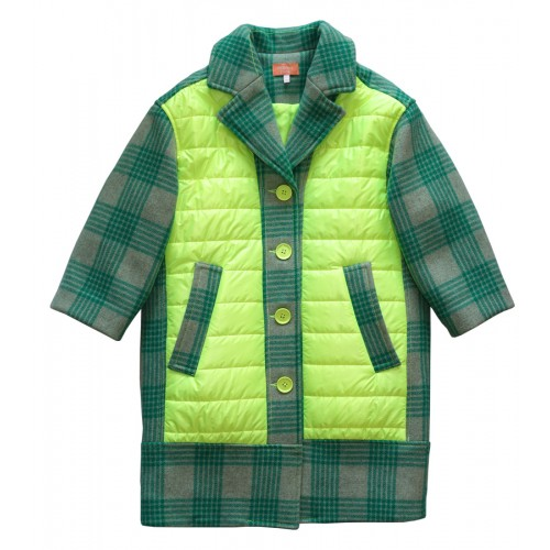 UNIQUE PATCHED PADDING COAT (GREEN) - 30% 할인