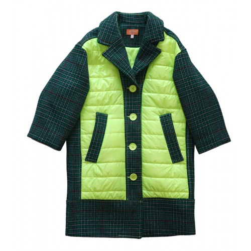 UNIQUE PATCHED PADDING COAT (D/GREEN) - 30% 할인