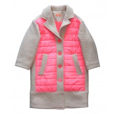 UNIQUE PATCHED PADDING COAT (PINK)