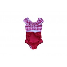 RED CHECK SWIMSUIT (FOR GIRLS) REORDER